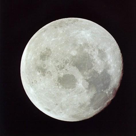 La Luna ripresa durante il viaggio di ritorno