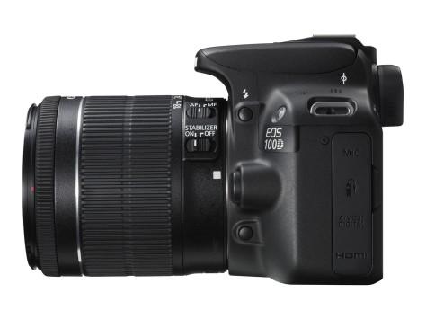 EOS 100D SIDE LEFT w EF-S 18-55mm IS STM