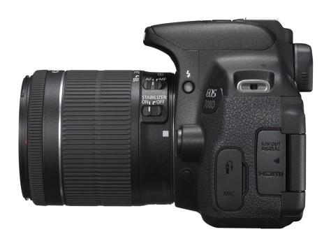 EOS 700D SIDE LEFT w EF-S 18-55mm IS STM