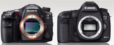 Sony A99 - Canon 5D III