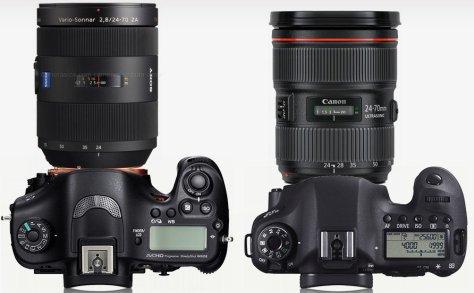 Sony A99 Zeis 24-70/2,8 - Canon 6D 24-702,8 L II