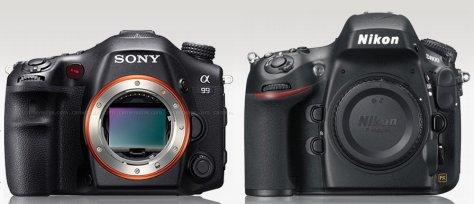 Sony A99 - Nikon D800