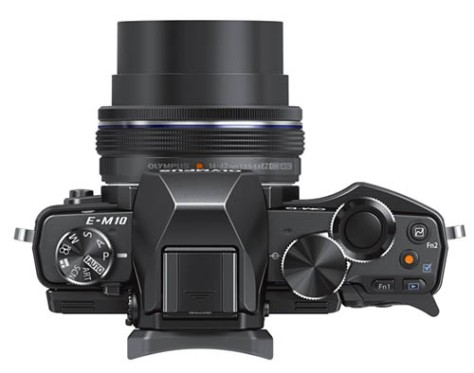 Olympus-OMD-E-M10-camera-top