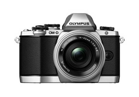 Olympus-OMD-E-M10-silver-camera