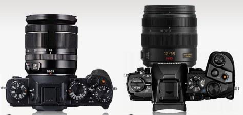 X-T1_OM-D-E.M1_top_lens