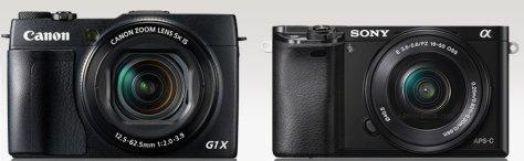 Canon G1X II - Sony A6000