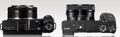 Canon G1X - Sony A6000 16-50