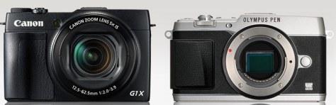 Canon G1X II - Olympus PEN E-P5