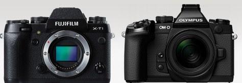 X-T1_E-M1_front