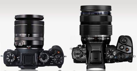 X-T1_E-M1_top-lens