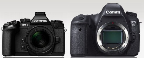 E-M1 - Canon 6D