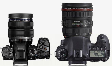 E-M1 con 12-40/2,8 - Canon 6D con 24-70/4,0 IS