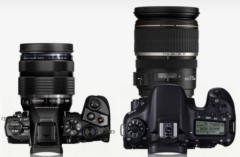 E-M1 con 12-40/2,8 - Canon 70D con 17-55/2,8 IS