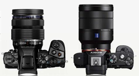 E-M1 con 12-40/2,8 - Sony A7 con Zeiss 24-70/4,0