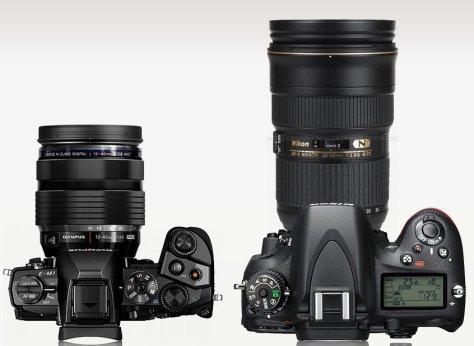 E-M1 con 12-40/2,8 - Nikon D610 con 24-70/2,8