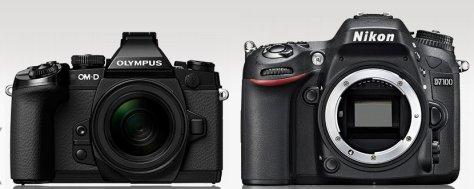 E-M1 - Nikon D7100