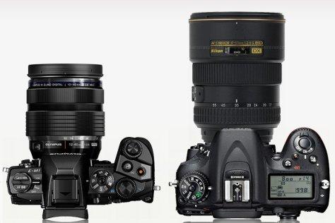 E-M1 con 12-40/2,8 - Nikon D7100 con 17-55/2,8