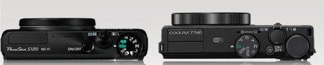 Canon S120 - Nikon P340