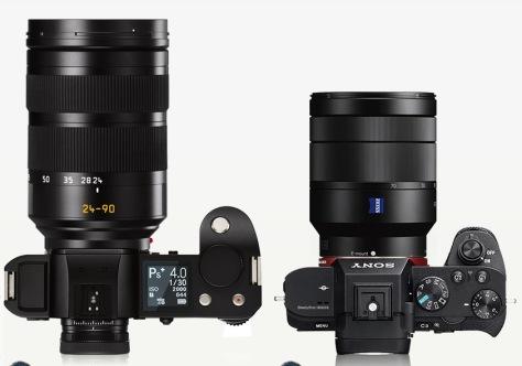 Leica_SL-Sony A7 II_top_lens