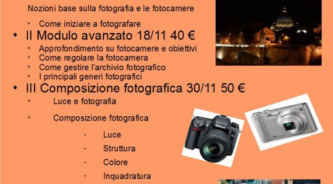 Calendario corsi foto
