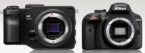 Sigma SD Quattro - Nikon D3400