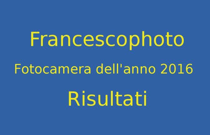 Fotocamere dell'anno 2016 – Risultati