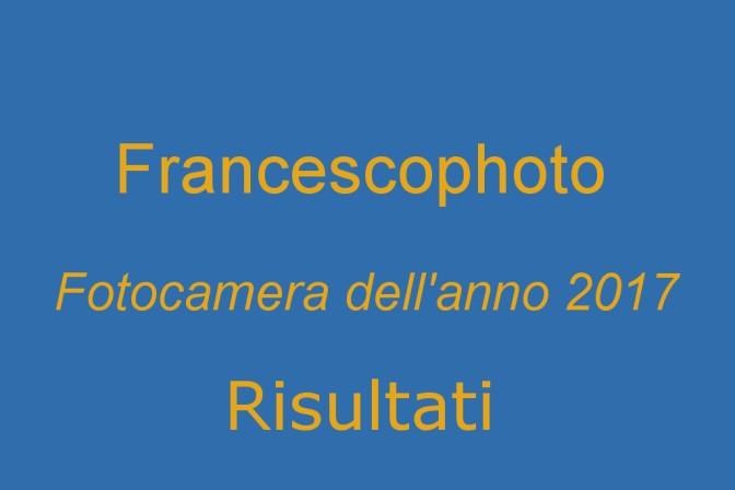 Fotocamera dell'anno 2017: risultati